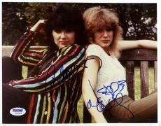 "Ann Wilson & Nancy Wilson Autographed 8""x 10"" Heart Sitting on Park Bench Photograph - PSA/DNA COA"