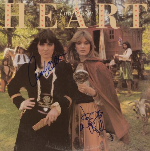 Ann Wilson & Nancy Wilson Autographed Heart Little Queen Album Cover - PSA/DNA COA