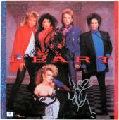 Ann Wilson Nancy Wilson Dual Signed Autographed Album Cover Heart JSA U07909