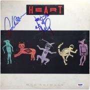 Ann Wilson & Nancy Wilson Heart Autographed Bad Animals Album - PSA