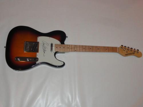 Ann Wilson Signed Sunburst Electric Guitar Heart Tele Legend Jsa Coa