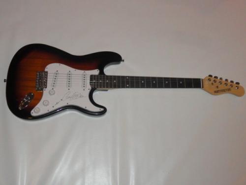 Ann Wilson Signed Sunburst Electric Strat Guitar Heart Legend Jsa Coa
