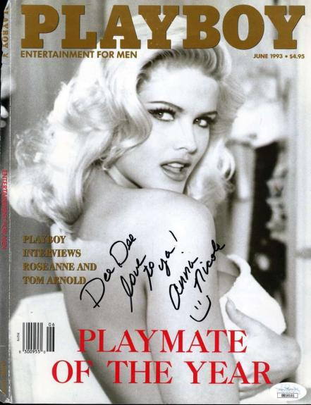 Anna Nicole Smith Jsa Coa Hand Signed 9x11 Cover Photo Autograph