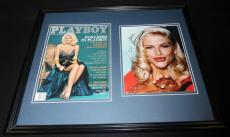 Anna Nicole Smith Signed Framed 16x20 Playboy Cover & Photo Display JSA B