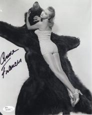 ANNE FRANCIS HAND SIGNED 8x10 PHOTO       GORGEOUS+SEXY ACTRESS       JSA