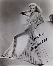 ANNE FRANCIS HAND SIGNED 8x10 PHOTO+COA     STUNNING ACTRESS   VERY SEXY POSE