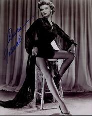 ANNE FRANCIS HAND SIGNED 8x10 PHOTO+COA      YOUNG+BEAUTIFUL ACTRESS   SEXY LEGS