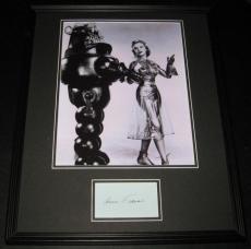 Anne Francis Signed Framed Forbidden Planet 16x20 Photo Poster Display JSA