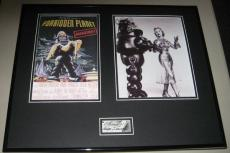 Anne Francis Signed Framed Forbidden Planet 16x20 Photo Set JSA