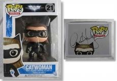 Anne Hathaway Dark Night Catwoman Autographed Signed Funko Pop Doll PSA/DNA COA