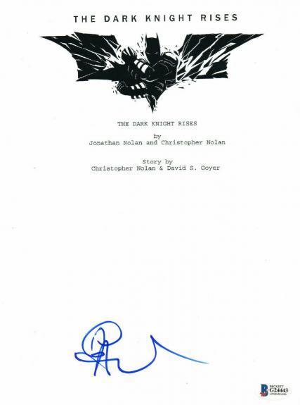 Anne Hathaway Signed Auto The Dark Knight Rises Full Script Beckett Bas Coa 2