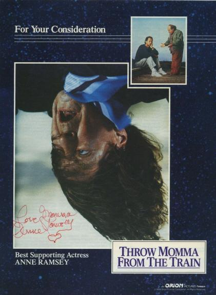 Anne Ramsey Signed Mag Page Throw Momma From The Train Goonies Beckett Bas Rare!