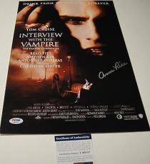 Anne Rice Signed Interview W/ A Vampire 11x17 Movie Poster Photo Psa/dna T60217
