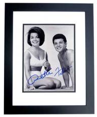 Annette Funicello and Frankie Avalon Signed - Autographed Beach Party 8x10 Photo BLACK CUSTOM FRAME - Deceased 2013