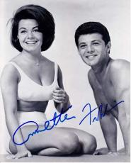 Annette Funicello and Frankie Avalon Signed - Autographed Beach Party 8x10 Photo - Deceased 2013