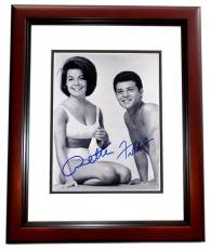Annette Funicello and Frankie Avalon Signed - Autographed Beach Party 8x10 Photo MAHOGANY CUSTOM FRAME - Deceased 2013