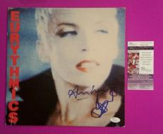 Annie Lennox And Dave Stewart Signed Eurythmics Lp Album Photo Proof And Jsa Coa