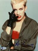"Annie Lennox Autographed 8""x 10"" Eurythmics Wearing Black Gloves Photograph - Beckett COA"