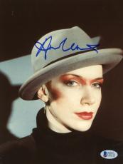 "Annie Lennox Autographed 8""x 10"" Eurythmics Wearing Hat Photograph - Beckett COA"
