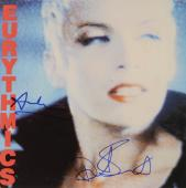 Annie Lennox & Dave Stewart Autographed Eurythmics Be Your Self Tonight Full Album Cover - PSA/DNA COA