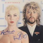 Annie Lennox & Dave Stewart Autographed Eurythmics Revenge Album Cover - PSA/DNA COA
