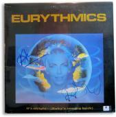 Annie Lennox Dave Stewart Signed Autographed Album Cover Eurythmics JSA U16372