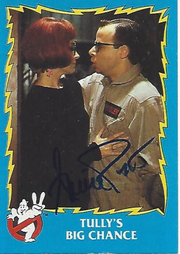 """ANNIE POTTS as JANINE MELNITZ in 1989 Movie """"GHOSTBUSTERS 2"""" Signed 1989 COLUMBIA PICTURES INDUSTRIES CARD"""