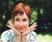 ANNIE POTTS HAND SIGNED 8x10 COLOR PHOTO+COA       DESIGNING WOMEN     TO DAVE