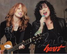 ANN+NANCY WILSON AUTOGRAPHED 8x10 COLOR PHOTO      HEART      TO STEVE       JSA
