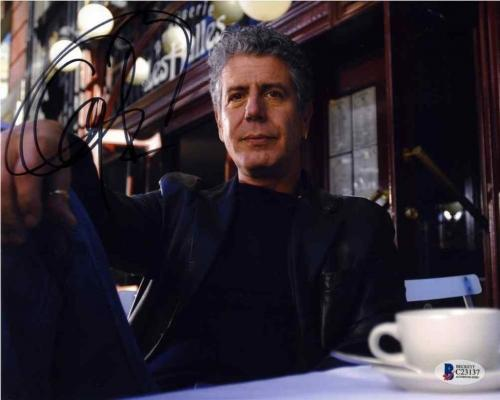 Anthony Bourdain Parts Unknown Autographed Signed 8x10 Photo Certified BAS COA
