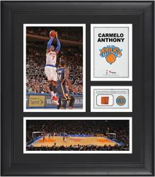 Carmelo Anthony New York Knicks Framed 15'' x 17'' Collage with Team-Used Ball - Mounted Memories
