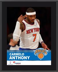 Carmelo Anthony New York Knicks Sublimated 10.5'' x 13'' Plaque - Mounted Memories