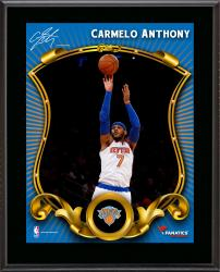 Carmelo Anthony New York Knicks Sublimated 10.5'' x 13'' Stylized Plaque - Mounted Memories