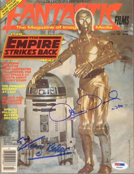 ANTHONY DANIELS C3-PO & KENNY BAKER R2-D2 STAR WARS Signed Magazine PSA/DNA