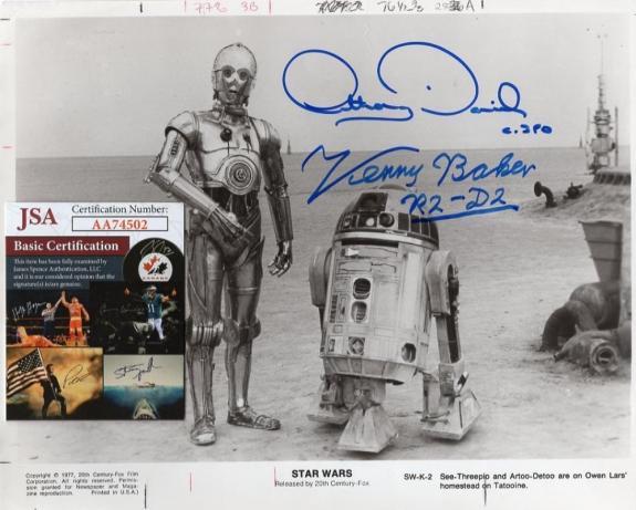 Anthony Daniels Kenny Baker 1977 Original Signed Rare Star Wars W/ Jsa Aa