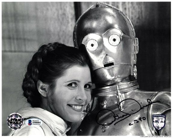 """ANTHONY DANIELS Signed STAR WARS """"C3-P0"""" 8x10 OFFICIAL PIX Photo Beckett BAS"""