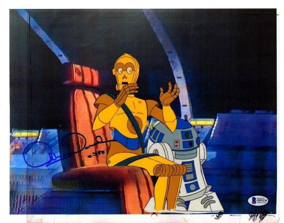 "ANTHONY DANIELS Signed Star Wars ""DROIDS"" Cartoon Animation Cel BAS #Q93236"