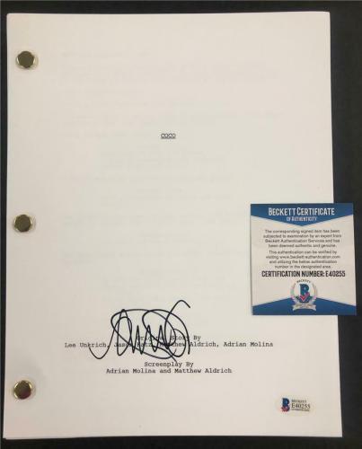 "ANTHONY GONZALEZ aka ""Miguel"" signed Disney COCO Movie Script ~ Beckett BAS COA"