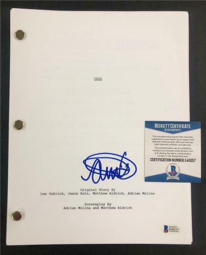 "ANTHONY GONZALEZ autograph ""Miguel"" signed COCO Movie Script ~ Beckett BAS COA"