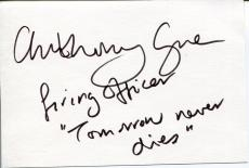 Anthony Green Tomorrow Never Dies James Bond Cadfael Signed Autograph