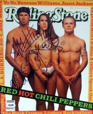 Anthony Kiedis & Chad Smith Autographed Signed Magazine PSA/DNA #V56037