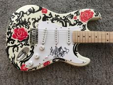 Anthony Kiedis Red Hot Chili Peppers Signed Autograph Custom Painted Guitar 1/1