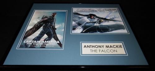 Anthony Mackie Signed Framed 16x20 Photo Set JSA Avengers The Falcon
