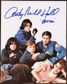 "Anthony Michael Hall Autograph Signed 8x10 Photo ""Breakfast Club"" AUTO BAS COA"