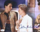 Anthony Michael Hall & John Cusack Signed 'sixteen Candles' 8x10 Photo Jsa Coa
