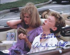 Anthony Michael Hall Signed 'sixteen Candles' 8x10 W/ Inscription Photo Jsa Coa