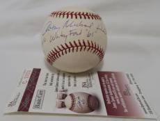 """Anthony Michael Hall Signed Whitey Ford """"61"""" Autographed MLB Baseball JSA#C23372"""