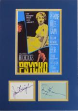 Anthony Perkins & Janet Leigh Signed Psycho Matted Display PSA/DNA COA #AB09286