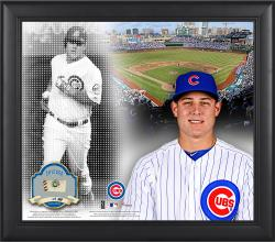 """Anthony Rizzo Chicago Cubs Framed 15"""" x 17"""" Mosaic Collage with Game-Used Baseball-Limited Edition of 99"""