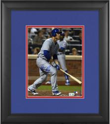 "Anthony Rizzo Chicago Cubs Framed Autographed 8"" x 10"" Gray Uniform Swing Photograph"